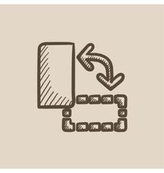 Page orientation sketch icon vector