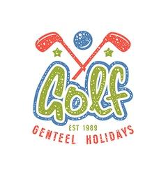 Golf club emblem in retro style vector
