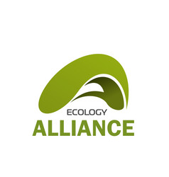 Abstract eco sign design for ecology company vector