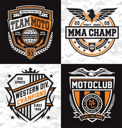 Athletic emblem graphics vector image
