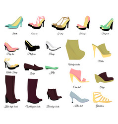 big shoes set vector image