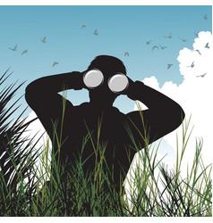 bird watcher vector image vector image