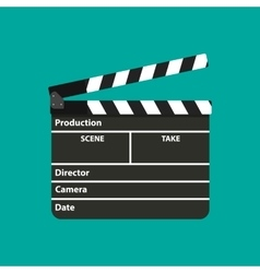 Black opened clapperboard Movie clapper board vector image vector image