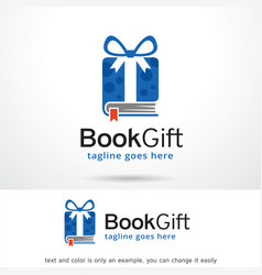 book gift logo template design vector image
