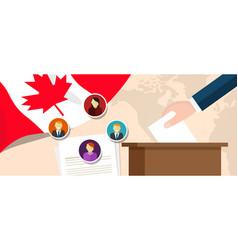 Canada democracy political process selecting vector