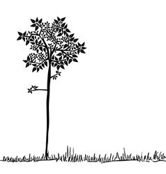 Cute tree silhouette vector