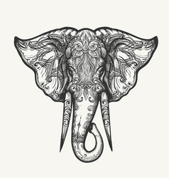 Elephant head zentangle vector