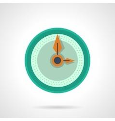 Flat color clock dial icon vector image vector image