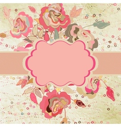Floral card templste for valentine s day eps 8 vector
