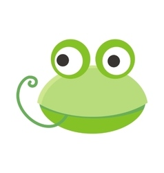 Frog face in flat design vector