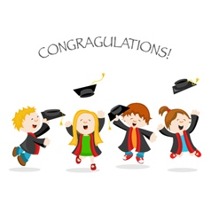 Graduation Message vector image vector image