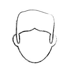 Guy faceless head vector