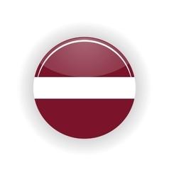 Latvia icon circle vector