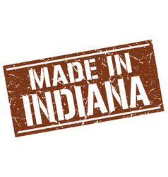 Made in indiana stamp vector