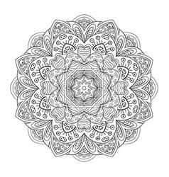 mandala flower zentangl doodle drawing round vector image vector image