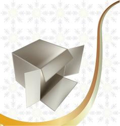 metallic gift box vector image