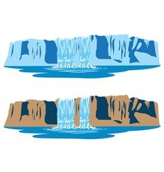 mountain waterfalls vector image
