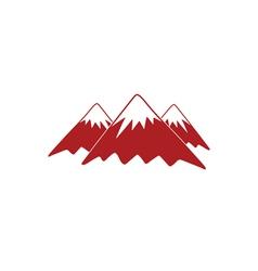 mountains icon vector image