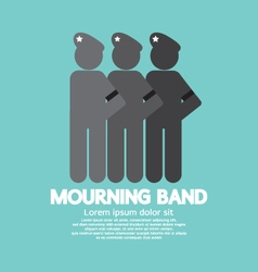 Mourning band on soldier sleeve vector