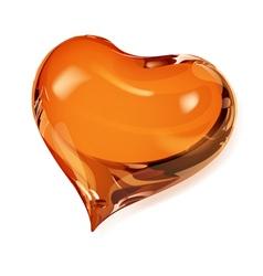 Orange heart vector image vector image