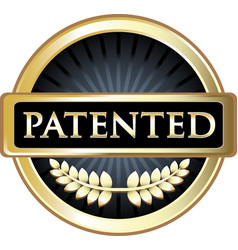 patented icon vector image vector image