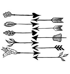 Rustic arrows vector