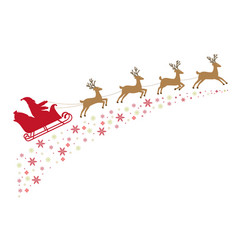 santa on a sleigh with reindeer vector image vector image