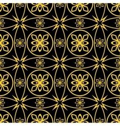Seamless golden pattern vector image vector image