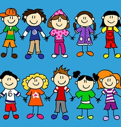 Seamless kid banner-2 rows vector image vector image