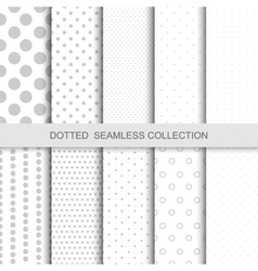 Simple dotted patterns vector image