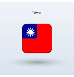 Taiwan flag icon vector