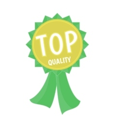 Top quality gold and green ribbon simple flat vector image