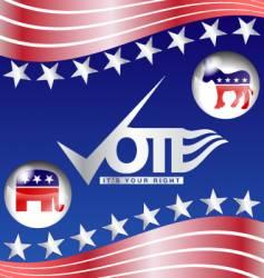 vote slogan vector image vector image