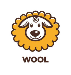 Wool sheep icon for knitting handicraft or vector