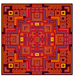 Decorative geometric ethnic pattern ornament vector