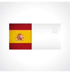Envelope with Spanish flag card vector image