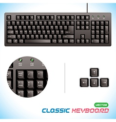 3d classic keyboard vector