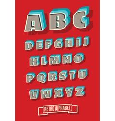 retro type font vintage alphabet vector image