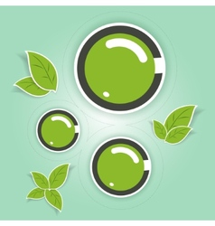 Eco-friendly green circles vector