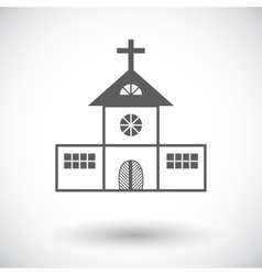 Church single flat icon vector