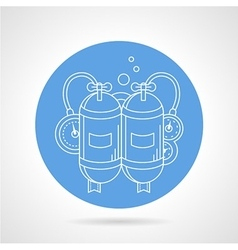 Aqualung round icon vector