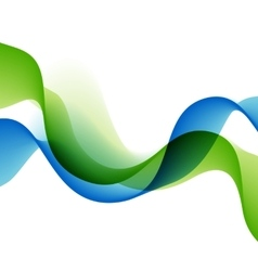 Color abstract waves vector