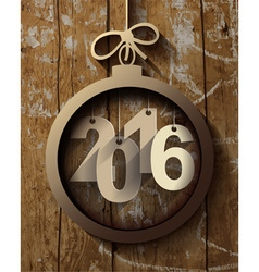 2016 white paper origami happy new year card on vector