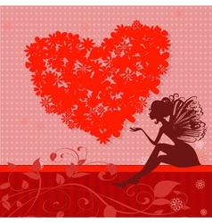 Retro valentine fairy vector