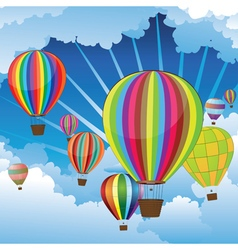Air Balloons in the Sky5 vector image