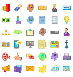 Black friday icons set cartoon style vector