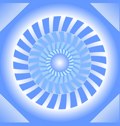 Blue tile with circle absteract shape in op-art vector