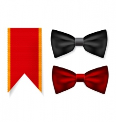 bow tie and red ribbon vector image vector image