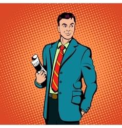 Businessman concept comics style vector image