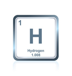 Chemical element hydrogen from the periodic table vector
